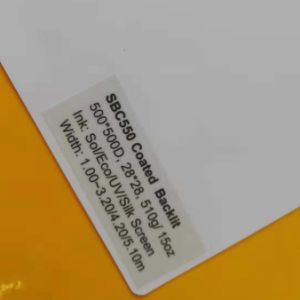 Sounda retroiluminado com revestimento flexível em PVC Banner para a impressão de solventes