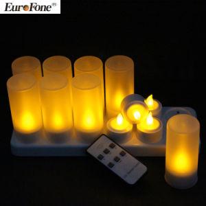 Blanco cálido Velas LED recargable sin flama con control remoto