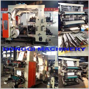 Quatre couleurs de la machinerie d'impression flexographique