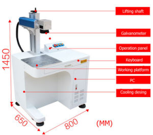20Wデスクトップのファイバーレーザーのマーキングの彫版機械(EETO-FM20)