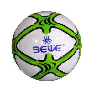 2db3c03a22439 ... de PVC de boa qualidade Máquina de couro agrafada logotipo  personalizado 320-420g peso Barato preço por grosso bola de futebol OEM  para a promoção
