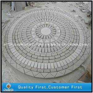 花こう岩の庭の装飾のための石造りのモザイク床タイルをカスタム設計しなさい