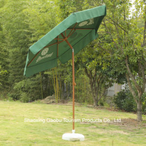 Ombrello del giardino di promozione come rivestimento di legno