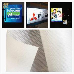 550d flexível de PVC de Grande Formato Banner reflexivo para sinais exteriores