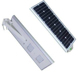 La energía solar Calle luz LED, 20W de potencia, todo en uno integrado con sensor de movimiento