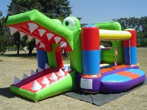 Puente de inflables inflables Cocodrilo Toy Bouncer (B1137)