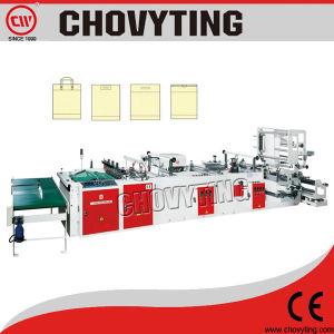 De compras accionados por motor servo doble bolsa de plástico que hace la máquina (CW-800ZD)