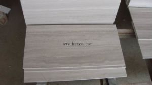 白い木の大理石か灰色の木の大理石の木の白い大理石のタイル