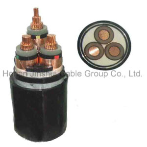 Condutor de cobre de 3 núcleos em XLPE cabo de alimentação de alta tensão