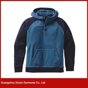 광저우 공장 도매 공백 싼 폴리에스테 양털 스웨터 재킷 Hoody (T87)