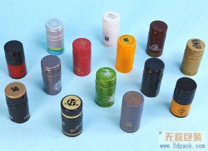 Vin vis standard en aluminium coloré de capsules de bouteille