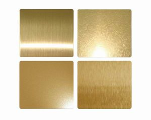 2016ベストセラーのProducts Exterior Wall Claddingのための201 304 316 430 Golden Stainless Steel Sheet