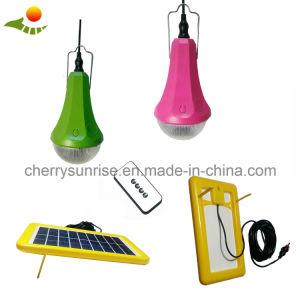 Pequeña casa Kit Solar Panel solar portátil del Sistema de energía solar el Kit de iluminación de luz solar 3W