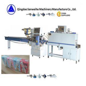SWC-590綿綿棒の自動収縮の包装機械