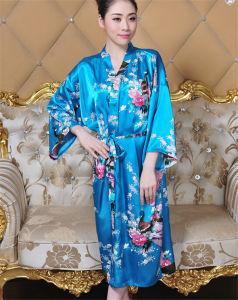 Robe de Kimono en soie japonaise de style nouveau style sexy (FS5821)