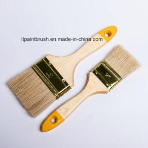 平らな木製のハンドルが付いているルーマニアのタイプ剛毛の絵筆