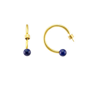 As mulheres Jóias de punho aberto Gemstone minimalista brincos de arcos