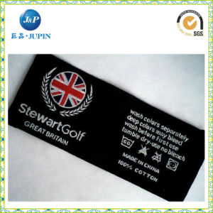 Directamente los valores de fábrica barata camiseta personalizada etiqueta tejida (JP-CL127)