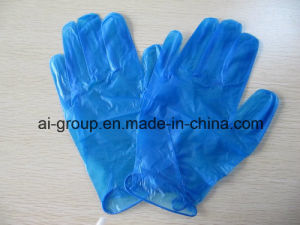 Non Jetable non jetable gants en vinyle bleu poudre pour l'examen –non jetable