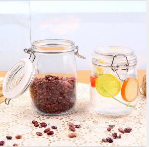 De goedkope Kruik van het Voedsel van de Prijs 500ml Glas Ingeblikte met het Verzegelen van Deksel en Lockj