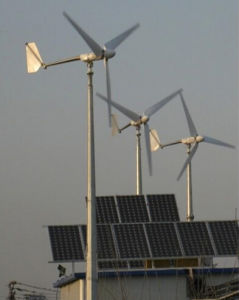 Sistema ibrido solare 3kw, sistema ibrido del vento domestico di uso di Powe del vento solare 5kw