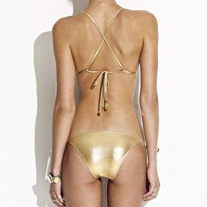 Abra Hot Sexy Girl Photo Bandeau Bikini calções de banho