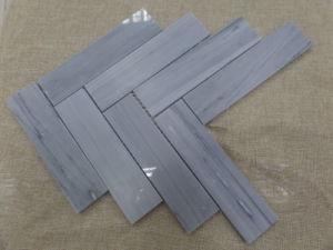 台所または浴室のフロアーリングのための自然で白いですか灰色の大理石のヘリンボンモザイク・タイル