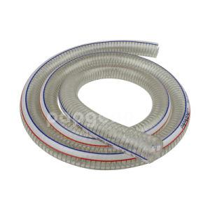 Ontruim de Flexibele Roestvrije Spiraalvormige Slang van pvc van de Draad van het Staal Versterkte