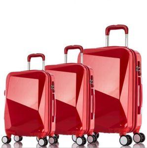 단단한 쉘 다이아몬드 모양 여행 트롤리 수화물 여행 가방 상자