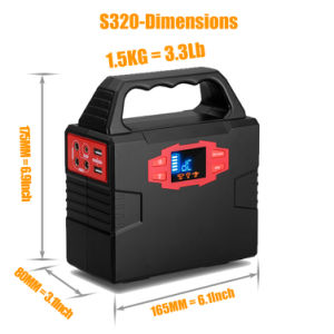 30W Foldable 태양 전지판을%s 가진 150wh 태양 발전기