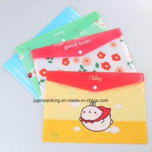 Farbenreicher gedruckter transparenter Verpackungs-Beutel der Belüftung-wasserdichter Dokumenten-A4 mit Taste (jp-plastic111)