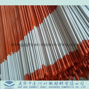 Mástil de tubo de plástico reforzado con fibra de fibra de vidrio pultrusión y varilla de plegado de fibra de vidrio bandera