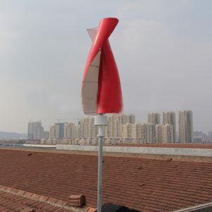 turbina de viento vertical inferior de la revolución por minuto de 12V 24V Dg-Sv-100W pequeña para el hogar