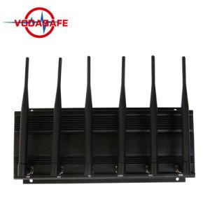 Het hete Verkopen Regelbare Stationaire 6bands voor Al GSM, CDMA, 3G de Telefoon van de Cel van UMTS 4glte, 433MHz, de Stoorzender van de Afstandsbediening van de Auto 315MHz/Blocker
