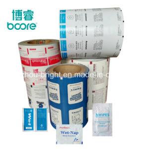 Desechables médicos pastillas Alcohol Swab embalaje papel aluminio papel para el bastoncillo de yodo