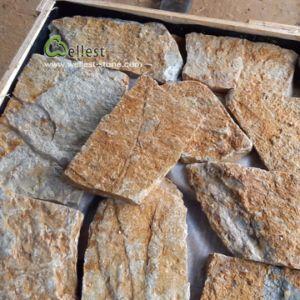 Parede de pedra calcária folheado de revestimento de pedra para Villa decoração de paredes exteriores e interiores