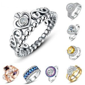 Bagues de l'usine de bijoux de mode Femmes Hommes doigt la bague de fiançailles en diamants de pierres précieuses dans l'or en cuivre de titane en acier inoxydable 925 Sterling Silver bague de mariage