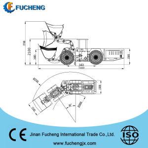 Tipo caricatore sotterraneo della rotella di 2m3 LHD per l'estrazione mineraria con la trasmissione del motore DANA di Deutz