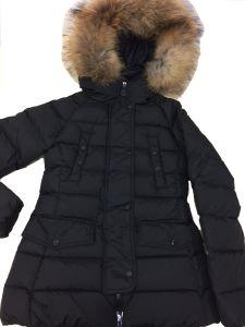 Signora Down Coat con il testo fisso della pelliccia