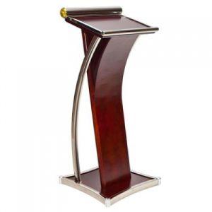 Yc-PF08 Discurso Wodden de Aço Inoxidável púlpito rostro púlpito pódio Stand
