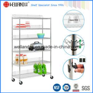 NSF-Zustimmungs-Hochleistungschrom-Metallbildschirmanzeige-Regal für Einzelhandelsgeschäft