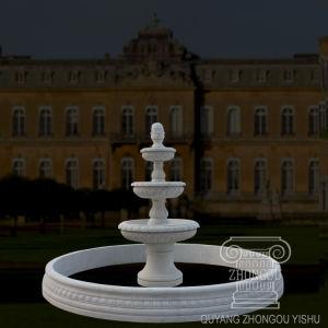 De Natuurlijke Fontein van uitstekende kwaliteit van het Water van de Tuin van de Steen Witte Tiered Marmeren