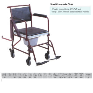 Novo Design melhor aço Cadeira Commode do Outlook