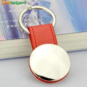 가죽 금속 Keychain를 주문 설계하십시오