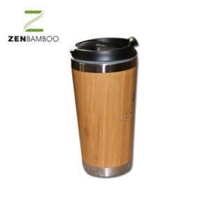 De Bambú natural de acero inoxidable de bloqueo de la taza de viaje