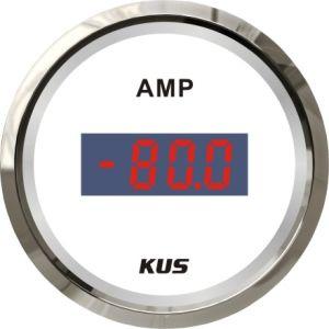 52mm Ammeter/Digital Ampere Gauge +--80A con Ampere/Current Sensor White Face per l'yacht Boat di Car Truck Universal