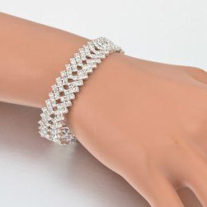 De Armbanden van het Kristal van de luxe voor Armband van de Kleur van Vrouwen de Zilveren