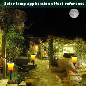 La eficiencia en el exterior de la luz de linterna LED de 96 de la luz de la llama de Energía Solar