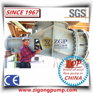 Pompa chimica del gomito dell'elica di flusso assiale per circolazione della soluzione del CaCl2 del cloruro di calcio