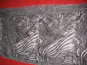 カシミヤ織形態上プリントショール